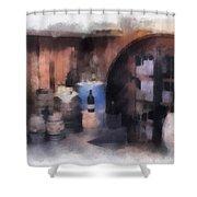 Wine Cellar Photo Art Shower Curtain
