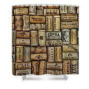 Wine Corks After The Wine Tasting Shower Curtain by Paul Ward