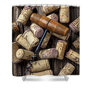 Wine Corks Celebration Shower Curtain