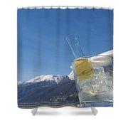 Wine Cube Shower Curtain