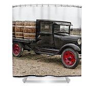 Wine Delivery Truck Shower Curtain