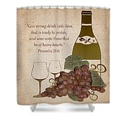 Wine For The Heart Shower Curtain