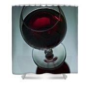 Wine Glass 2 Shower Curtain