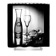 Wine Glasses Shower Curtain