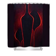 Wine Glow Shower Curtain
