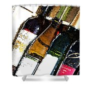 Wine In A Row Shower Curtain
