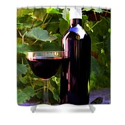 Wine In The Sunset Shower Curtain