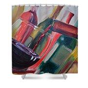 Wine Pour IIi Shower Curtain by Donna Tuten
