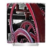 Wine Press Gears Shower Curtain