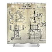Wine Press Patent 1903 Shower Curtain