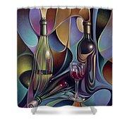 Wine Spirits Shower Curtain