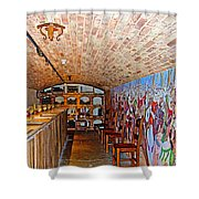 Wine Tasting Room In Castello Di Amorosa In Napa Valley-ca Shower Curtain