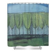 Wineglass Trees Shower Curtain
