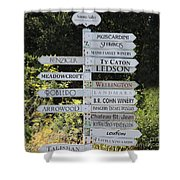 Winery Street Sign In The Sonoma California Wine Country 5d24601 Square Shower Curtain