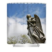 Winged Angel Shower Curtain by Jennifer Ancker