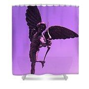 Winged Archer Eros Shower Curtain