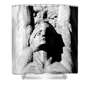 Winged Face Shower Curtain