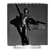 Winged Life Black And White Shower Curtain