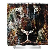 Winged Lion Shower Curtain