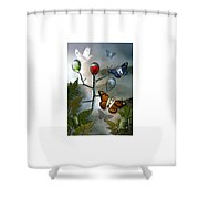 Winged Metamorphose Shower Curtain by Billie Jo Ellis