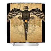 Winged Rider Shower Curtain