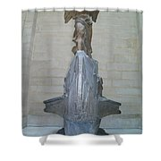 Winged Victory Of Samothrace Shower Curtain by Karen Maxwell