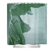 Winged Victory Of Samothrace Statue At The Louvre Museum        Shower Curtain
