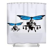 Wingin It - Blue Shower Curtain