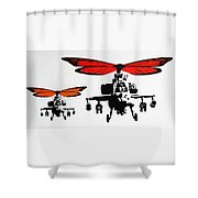 Wingin' It - Orange Shower Curtain