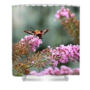 Wings In The Flowers Shower Curtain
