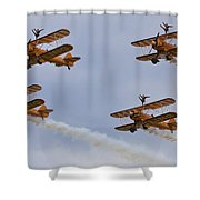 Wingwalkers  Perfect Sync Shower Curtain