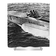 Winner Of The 180 Mile West Palm Beach To Lucaya-freeport Gatewa Shower Curtain