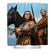 Winnetou And Old Shatterhand Shower Curtain