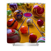 Winning At Marbles Shower Curtain