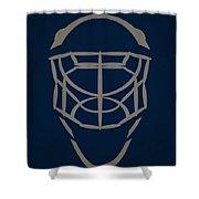 Winnipeg Jets Goalie Mask Shower Curtain