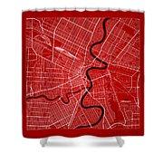 Winnipeg Street Map - Winnipeg Canada Road Map Art On Color Shower Curtain