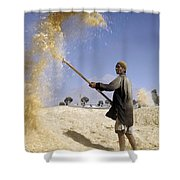 Winnowing Wheat In Iran Shower Curtain