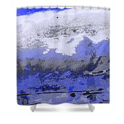 Winter Abstract Shower Curtain