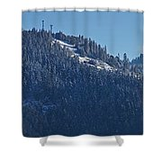 Winter And Mt Baldy Panorama Shower Curtain