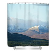 Winter Arrives From Above Shower Curtain