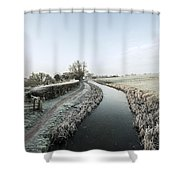Winter At Ayshford  Shower Curtain