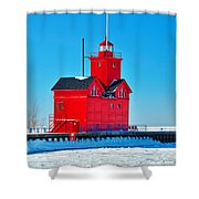 Winter At Big Red Shower Curtain