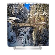 Winter At Christine Falls Shower Curtain