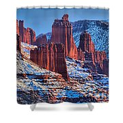 Winter At Fisher Towers Shower Curtain
