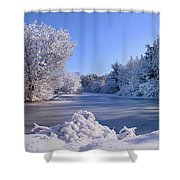Winter At Lake Marmo Shower Curtain