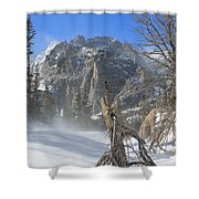 Winter At Loch Vale 2 Shower Curtain