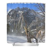 Winter At Loch Vale 3 Shower Curtain