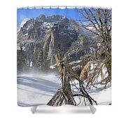 Winter At Loch Vale Shower Curtain