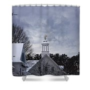 Winter At Mill Falls Shower Curtain