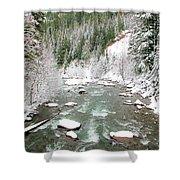 Winter At Mt Hood Shower Curtain